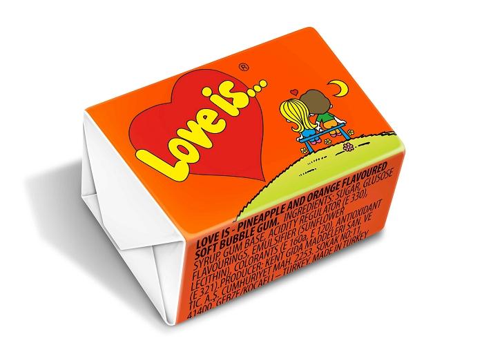Kent Love is Sour Orange & Pineapple Chewing Gum  4.2 gr (per unit)