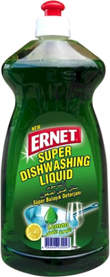 Ernet Super Dishwashing Liquid Fresh Lemon Green 750 ml
